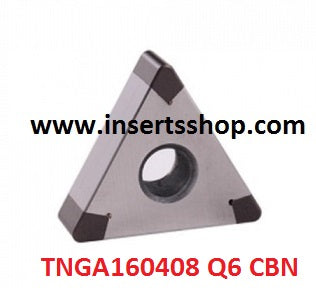 TNGA 160408 Q6 BT6000 , Inserts , CBN Turning Inserts , TNGA16 , CBN  , JINEIT, 1 Set = 1 Nos. - Inserts Shop