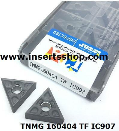TNMG 160404 NF IC907  , Inserts , Turning Inserts , IC907 , TNMG  , ISCAR, 1 Set = 10 Nos. - Inserts Shop