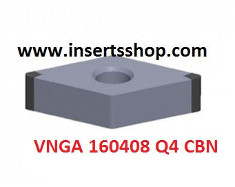 VNGA 160408 Q4 BT6000 , Inserts , CBN Turning Inserts , VNGA16 , CBN  , JINEIT, 1 Set = 1 Nos. - Inserts Shop
