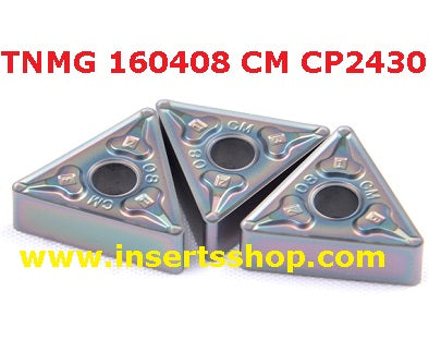 TNMG160408 CM CP2430 , Inserts , Turning Inserts , TNMG16 , CP2430  , CRM, 1 Set = 10 Nos. - Inserts Shop