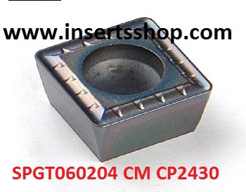 SPMG060204 CM CP2430 , Inserts , Drilling Inserts , SPGT06 , CP2430  , CRM, 1 Set = 10 Nos. - Inserts Shop