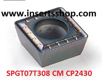 SPGT07T308 CM CP2430 , Inserts , Drilling Inserts , SPMG07 , CP2430  , CRM, 1 Set = 10 Nos. - Inserts Shop