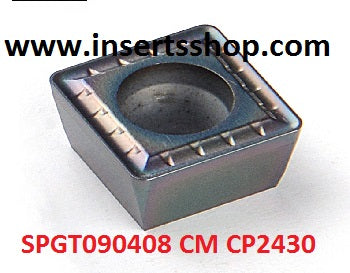 SPGT090408 CM CP2430 , Inserts , Drilling Inserts , SPGT09 , CP2430  , CRM, 1 Set = 10 Nos. - Inserts Shop