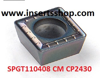 SPGT110408  CM CP2430 , Inserts , Drilling Inserts , SPMG11 , CP2430  , CRM, 1 Set = 10 Nos. - Inserts Shop