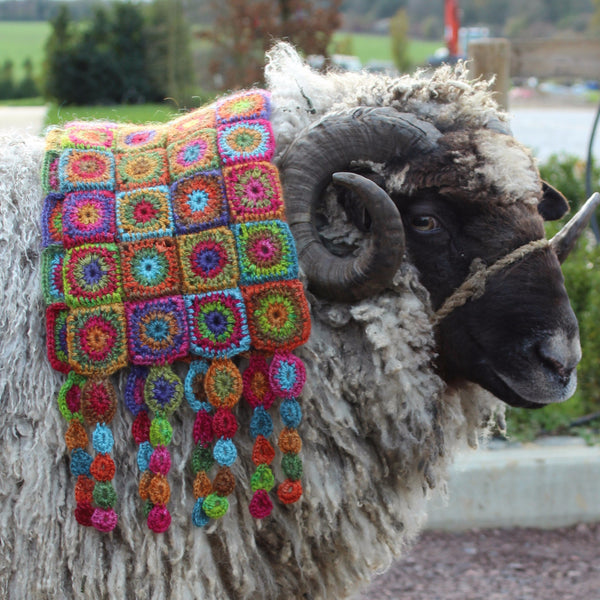 Belladonna Scarf Pattern - Amanda Perkins - The Little Grey Sheep