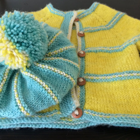 Little Miss Daisy Hat and Cardigan Pattern