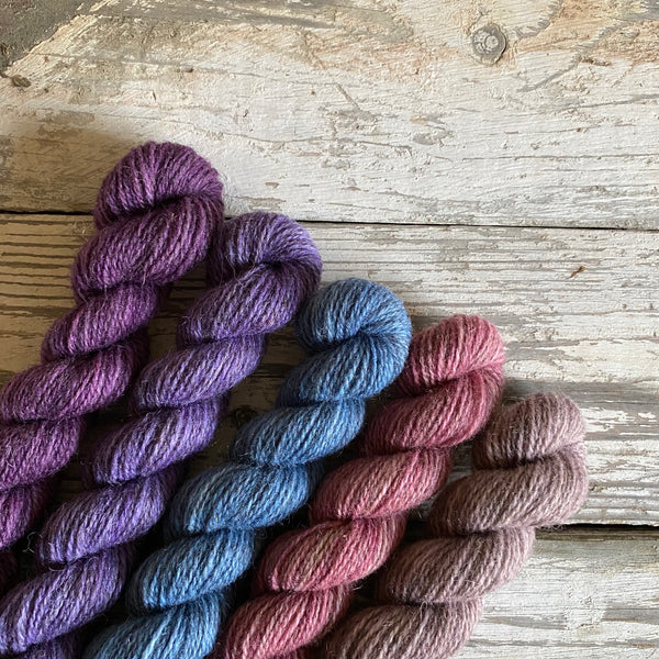 Hampshire 4ply Mini Skeins - Bluebell Time