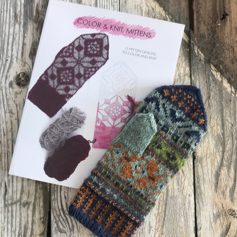 Color and Knit Mittens - Aleks Byrd