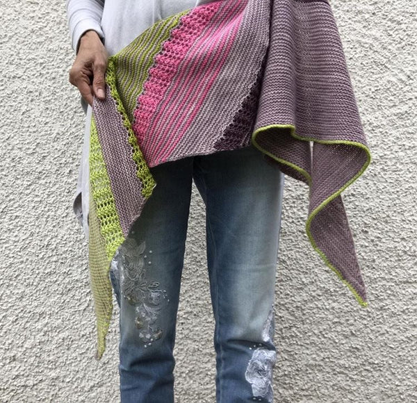 Hello Summer Shawl Pattern - Heike Gittins