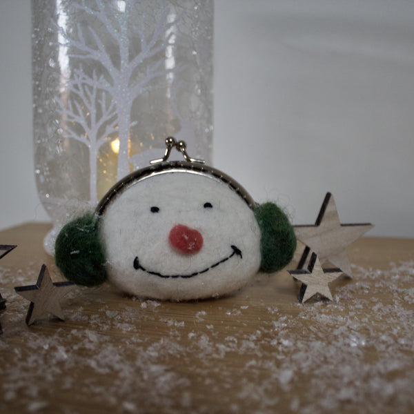 Snowman Felted Purse Kit