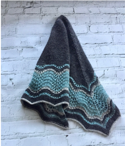Shetland Waves Shawl by Heike Gittins (Kit)