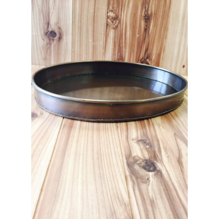 PLAIN OVAL COPPER TRAY WESTERN HOME DECOR METAL ART--#1298COP-BRAND NEW-FREE SHIPPING