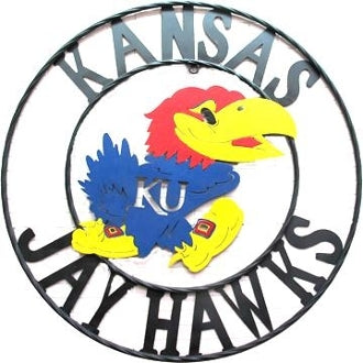 "12"", 18"", 24"", 32"" KANSAS JAYHAWKS METAL COLLEGE WESTERN HOME DECOR WALL ART, BRAND NEW#"