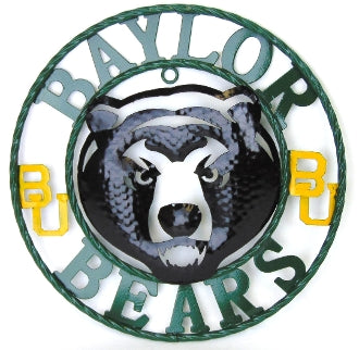 "12"", 18"", 24"", 32"" BAYLOR BEARS METAL COLLEGE WESTERN HOME DECOR WALL ART, BRAND NEW#"