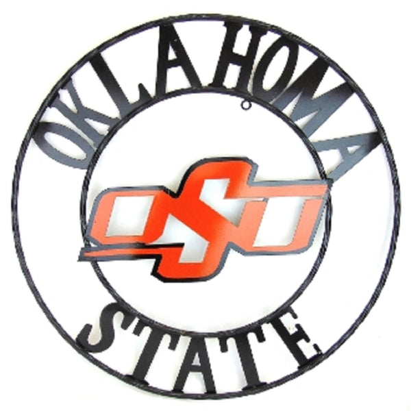 "12"", 18"", 24"", 32"" OSU OKLAHOMA STATE UNIVERSITY METAL COLLEGE WESTERN HOME DECOR WALL ART, BRAND NEW#"