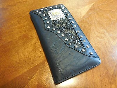 PRAYING COWBOY CHECKBOOK BI FOLD GENUINE LEATHER MEN'S & WOMEN'S WALLET NEW