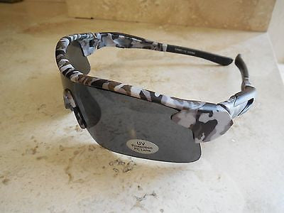 CAMOUFLAGE CAMO FISHING HUNTING MILITARY AIRSOFT WRAP MENS WOMENS SUNGLASSES NEW