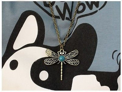VINTAGE JEWELRY RETRO HOLLOW DRAGONFLY SWEATER CHAIN PENDANT NECKLACE WOMEN NEW