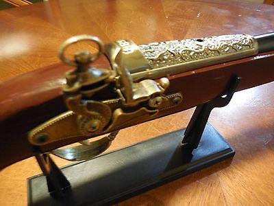 Replica Antique Pistol Table Gun w/Stand - Model 1688 -  17th Century Decor New