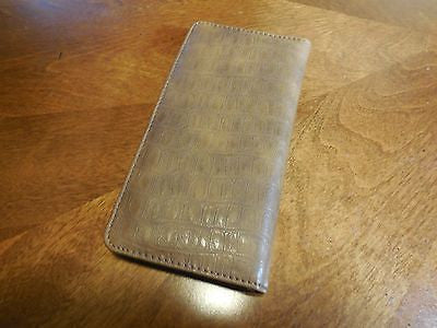 STATE OF TEXAS LONE STAR STATE GENUINE LEATHER TAN COWBOY RODEO WESTERN CHECKBOOK