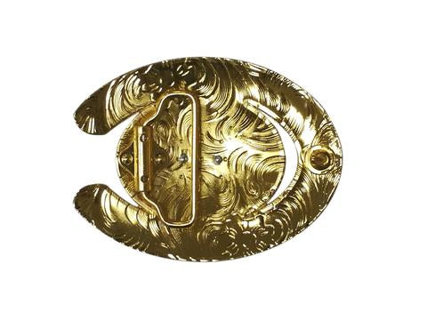 HORSE BELT BUCKLE WESTERN FASHION ART Item#6230-15-G RED_WS BRAND NEW