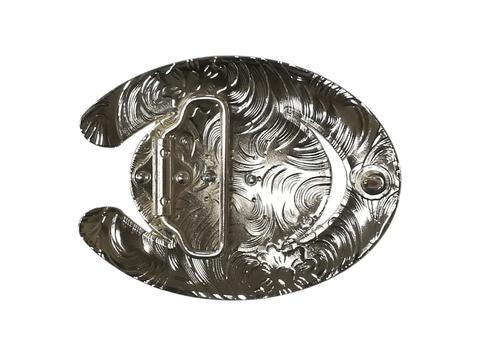 DOUBLE HORSE BELT BUCKLE WESTERN FASHION ART Item#6230-6-S BLACK_WS BRAND NEW