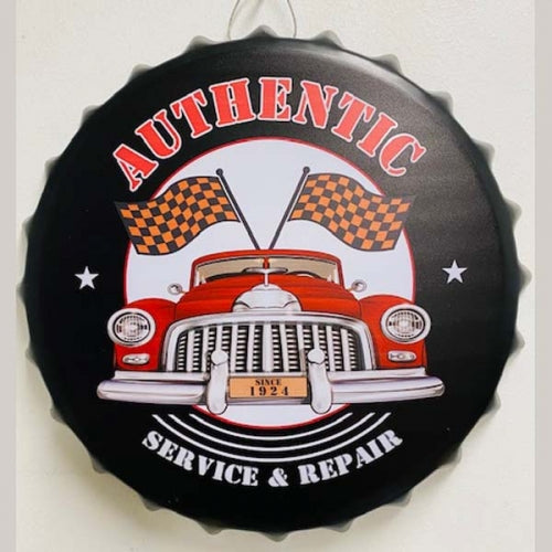 AUTHENTIC BOTTLE CAP TIN SIGN METAL ART WESTERN HOME DECOR CRAFT