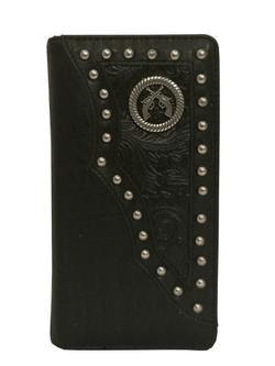 WESTERN CROSSED PISTOLS GUNS MEN'S & WOMEN'S CHECKBOOK WALLET