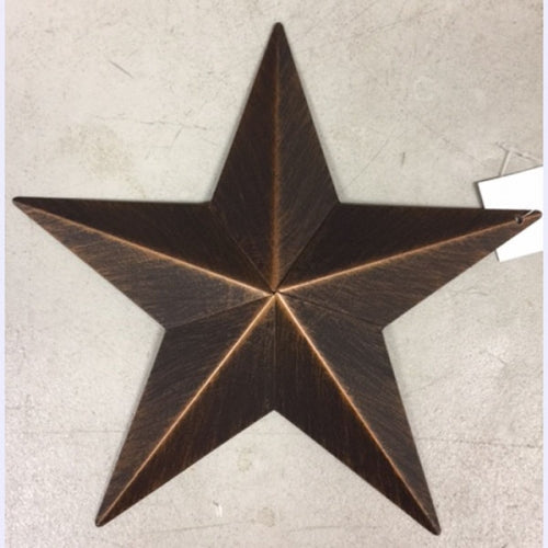 "3"",4"",5"",6"",9"",12"" METAL BARN STAR WESTERN HOME DECOR VINTAGE RUSTIC BRONZE ART NEW-- FREE SHIPPING"