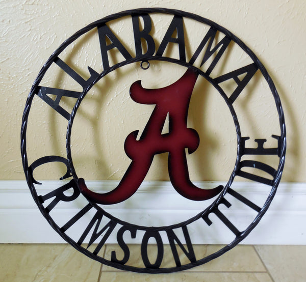 "12"", 18"", 24"", 32"" ALABAMA METAL COLLEGE WESTERN HOME DECOR WALL ART, BRAND NEW#"