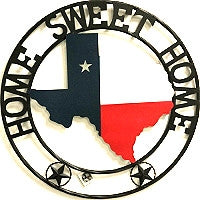 "24"" Home Sweet Home State of Texas Map Welcome Metal Wall Art Western Home Decor Vintage Rustic Red White & Blue Flag Art new-#B8268"