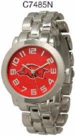 ARKANSAS RAZORBACKS APOSTLE LICENSED STAINLESS STEEL WATCH, WESTERN FASHION BRAND NEW: Item# C7485N--Free Shipping