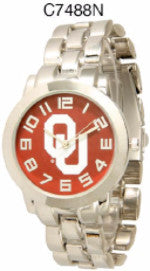 Oklahoma OU Sooners Licensed Collegiate Stainless Steel Watch