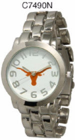Texas Longhorns Licensed Stainless Steel Watch - Men, Item# C7490N