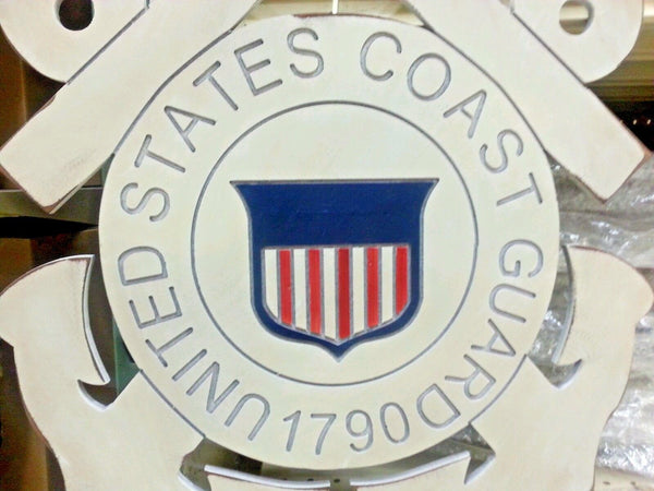 "21"" UNITED STATES COAST GUARD MILITARY WOOD PLAQUE ART WESTERN HOME DECOR RUSTIC ART NEW"