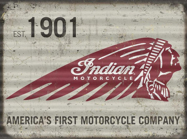 INDIAN MOTORCYCLES TIN SIGN METAL ART WESTERN HOME DECOR CRAFT
