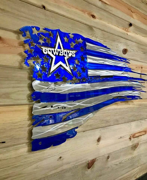 DALLAS COWBOYS METAL FLAGS WALL ART WESTERN HOME DECOR FLAG ART