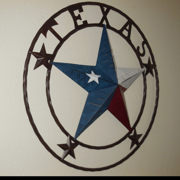 "24"", 32"", 34"", 40"" TEXAS LICENSE PLATE FLAG BARN STAR METAL WALL WESTERN HOME DECOR RUSTIC TEXAS ART NEW"