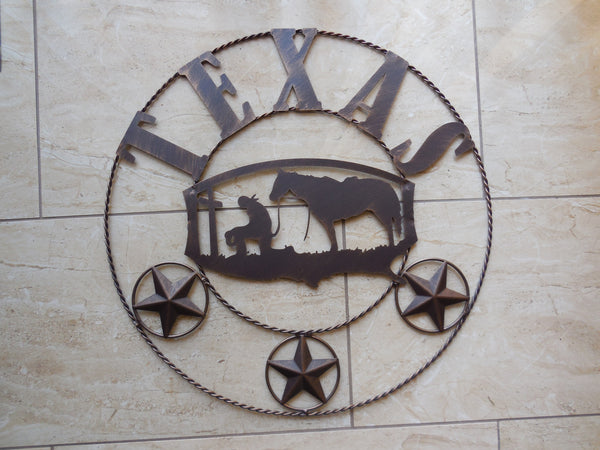 "21"" TEXAS COWBOYS CHURCH PRAYER METAL WALL ART WESTERN HOME DECOR NEW Item# A13023-- FREE SHIPPING"