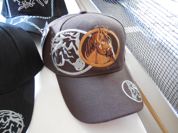 HORSE VINTAGE BASEBALL CAP - EMBROIDERED BALL CAP, BRAND NEW- FREE SHIPPING