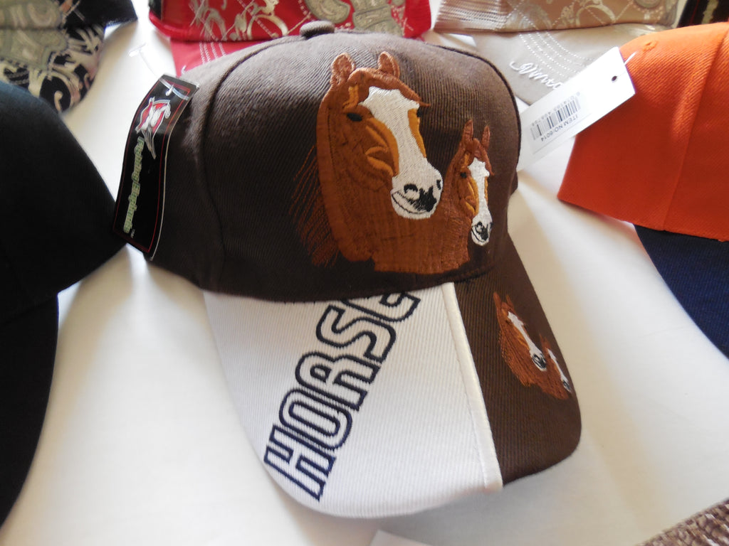 HORSES VINTAGE BASEBALL CAP - EMBROIDERED BALL CAP, BRAND NEW- FREE SHIPPING