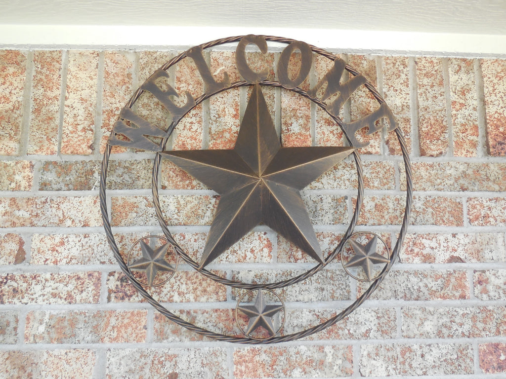 Star Home Decor Wall Art ~ Quot welcome barn star with twisted rope ring