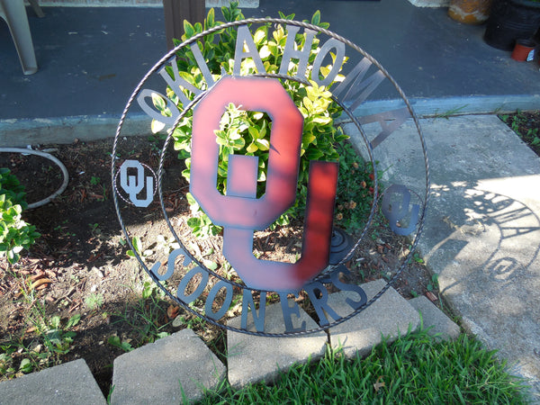 "12"", 18"", 24"", 32"" OU OKLAHOMA SOONERS METAL CUSTOM VINTAGE CRAFT OFFICIAL LICENSED PRODUCT"
