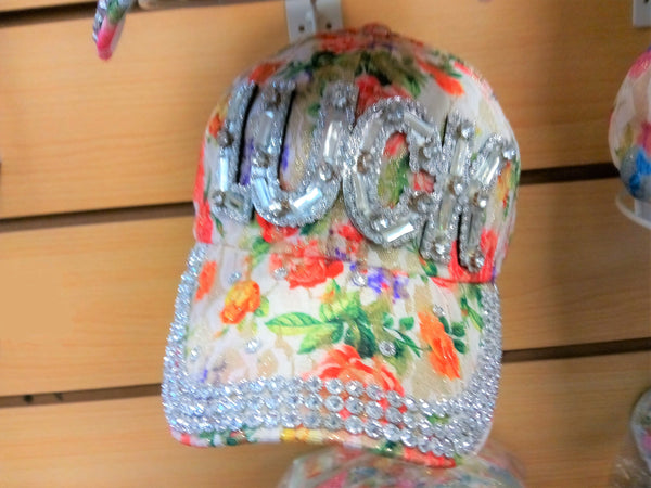 """LUCK"" BEADED BLING RHINESTONE COLORFUL WOMEN'S & GIRL CAP - WESTERN SUMMER FASHION ART BRAND NEW-- Free Shipping"