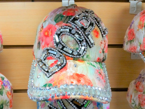 """DOPE"" BEADED BLING RHINESTONE COLORFUL WOMEN'S & GIRL CAP -WESTERN SUMMER FASHION ART BRAND NEW -- Free Shipping"