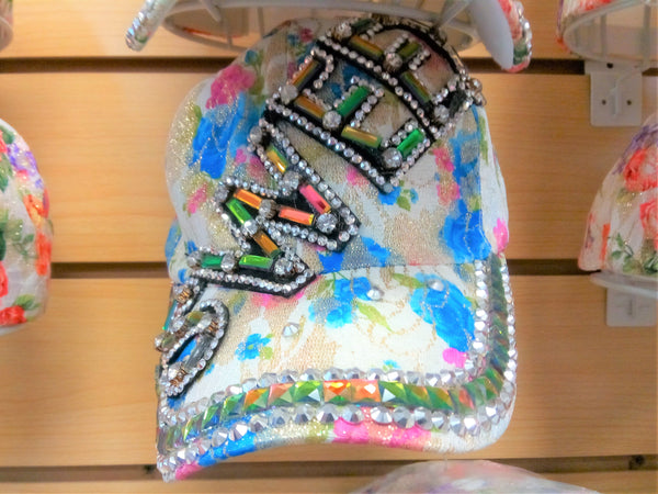 """SWEET"" BEADED BLING RHINESTONE COLORFUL WOMEN'S & GIRL CAP - ""SWEET"" WESTERN SUMMER FASHION ART BRAND NEW -- Free Shipping"