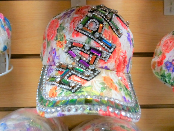 """HAPPY"" BEADED BLING RHINESTONE COLORFUL WOMEN'S & GIRL CAP - WESTERN SUMMER FASHION ART BRAND NEW--Free Shipping"