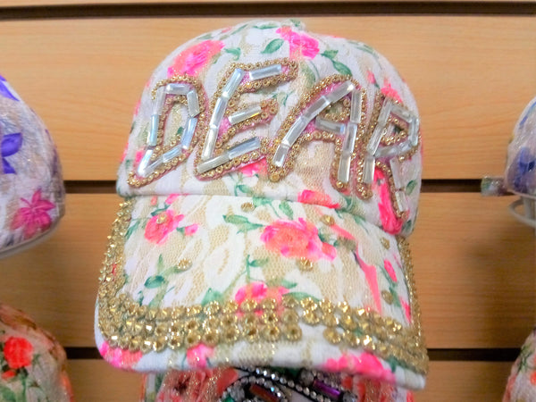 """DEAR"" BEADED BLING RHINESTONE COLORFUL WOMEN'S & GIRL CAP - WESTERN SUMMER FASHION ART BRAND NEW -- Free Shipping"