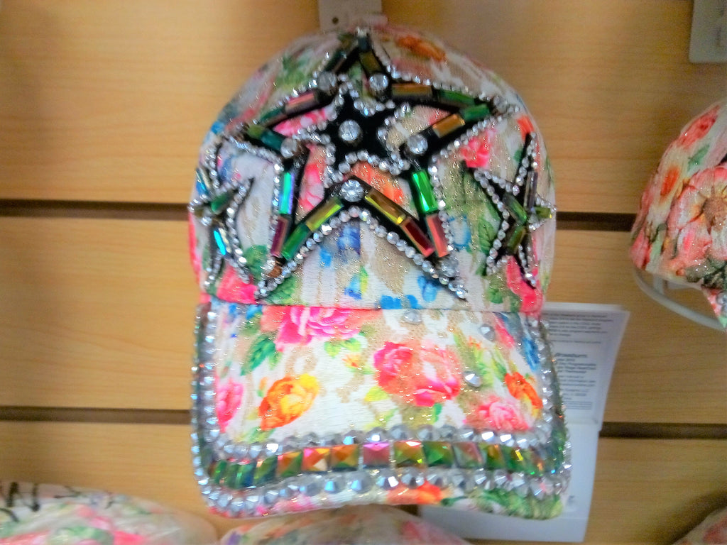 """STAR"" BEADED BLING RHINESTONE COLORFUL WOMEN'S & GIRL CAP - ""STAR"" WESTERN SUMMER FASHION ART BRAND NEW -- Free Shipping"