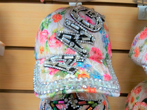 """ANG"" BEADED BLING RHINESTONE COLORFUL WOMEN'S & GIRL CAP - WESTERN SUMMER FASHION ART BRAND NEW --Free Shipping"
